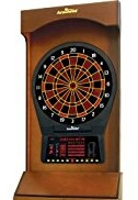 Rare Mahogany finis on one of the best electronic dartboard machines