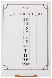 Dry Erase Scoreboard, Cricket and 01 Dart Games